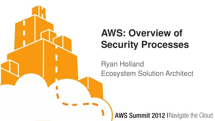 AWS: Overview ofSecurity ProcessesRyan HollandEcosystem Solution Architect