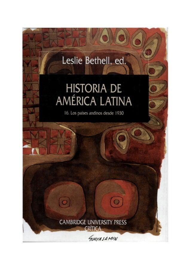 16 historia de america latina   leslie bethell ed cambrige university