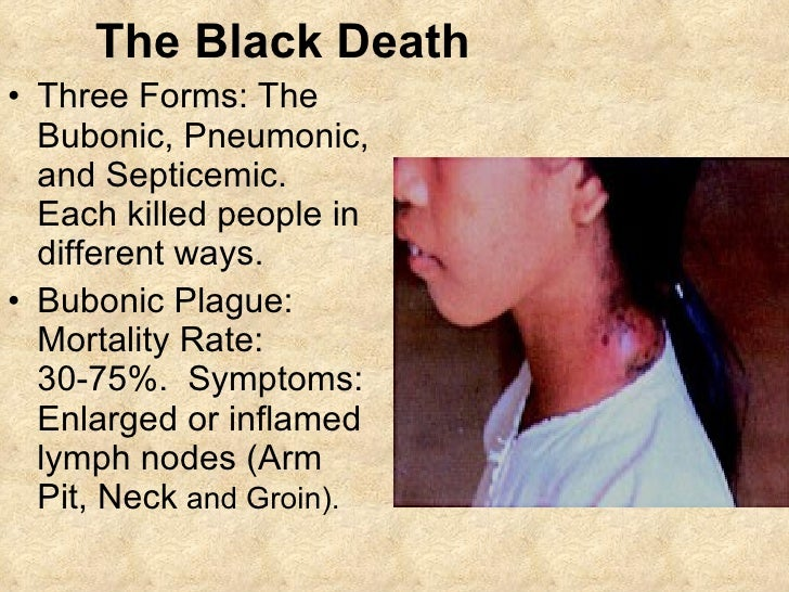 the black death symptoms causes and