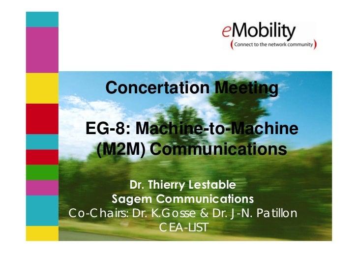 m2m - emobility expert group - 2009