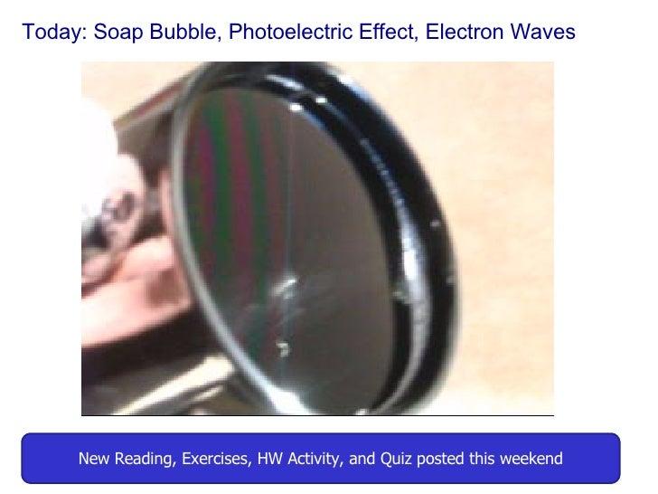 16 Mar 26 Soap Bubble, Photoelectric, Wave Particle Duality Actual