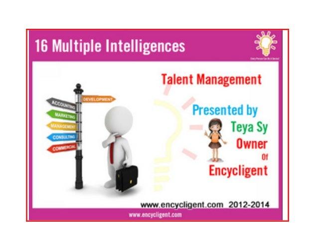 17th Learning EB- 16 Multiple Intelligences