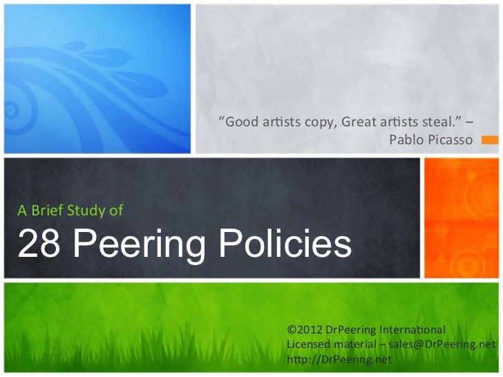 16 peering policies