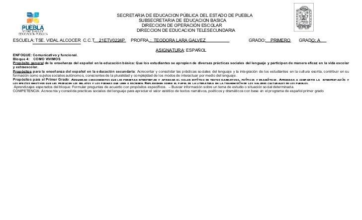 SECRETARIA DE EDUCACION PÚBLICA DEL ESTADO DE PUEBLA                                                                      ...