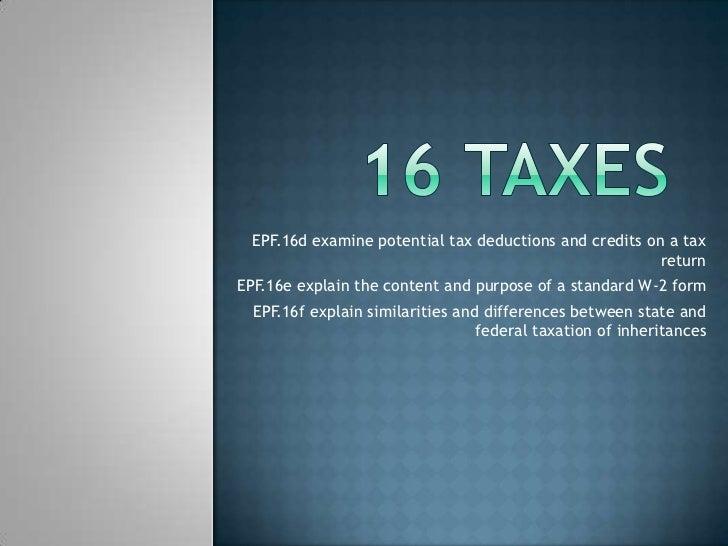 16 taxes