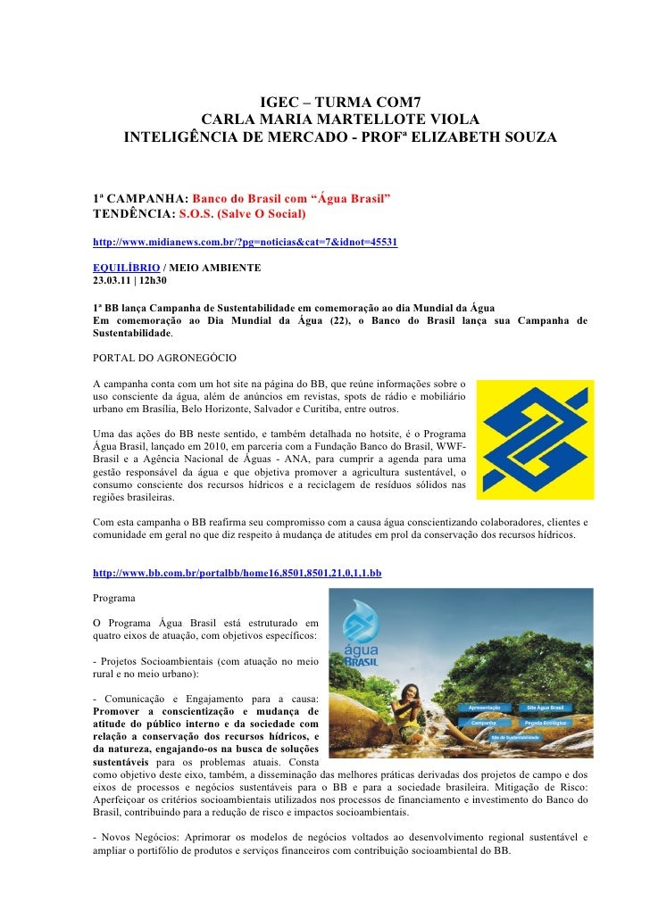 IGEC – TURMA COM7              CARLA MARIA MARTELLOTE VIOLA      INTELIGÊNCIA DE MERCADO - PROFª ELIZABETH SOUZA1ª CAMPANH...