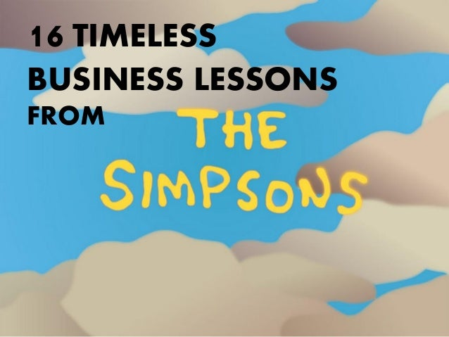 16 Timeless Business Lessons from The Simpsons