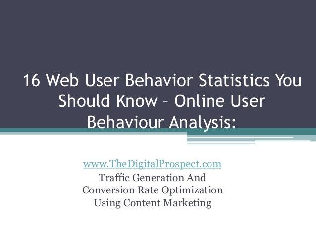 online behavior analysis