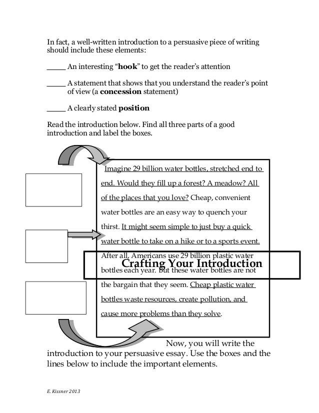5 parts of a persuasive speech