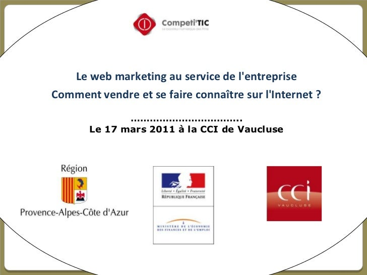 le web marketing au service de l'entreprise