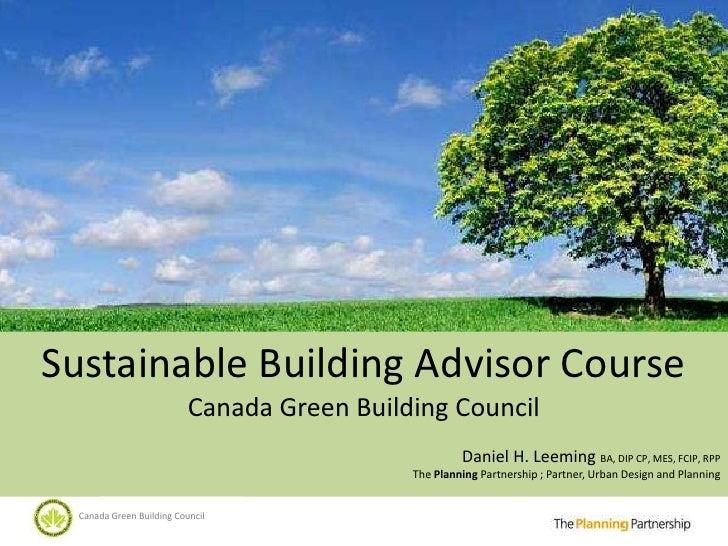 Sustainable Planning Fundamentals