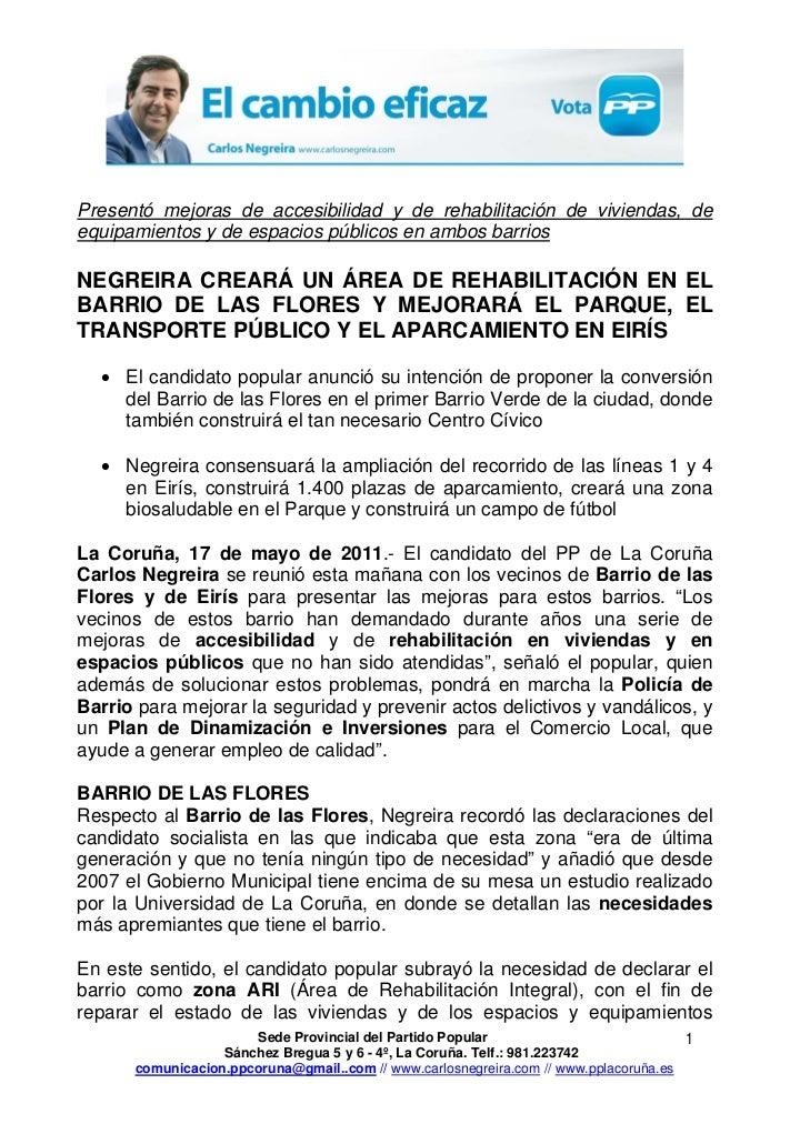 17 05-11 np pp propuestas barrio flores y eiris