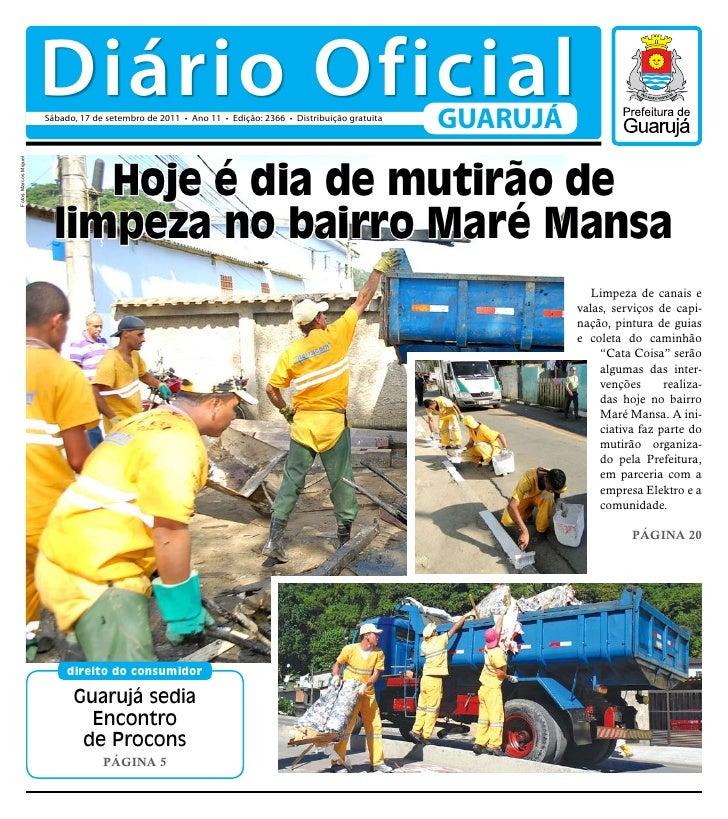 Diário Oficial de Guarujá - 17 09-11