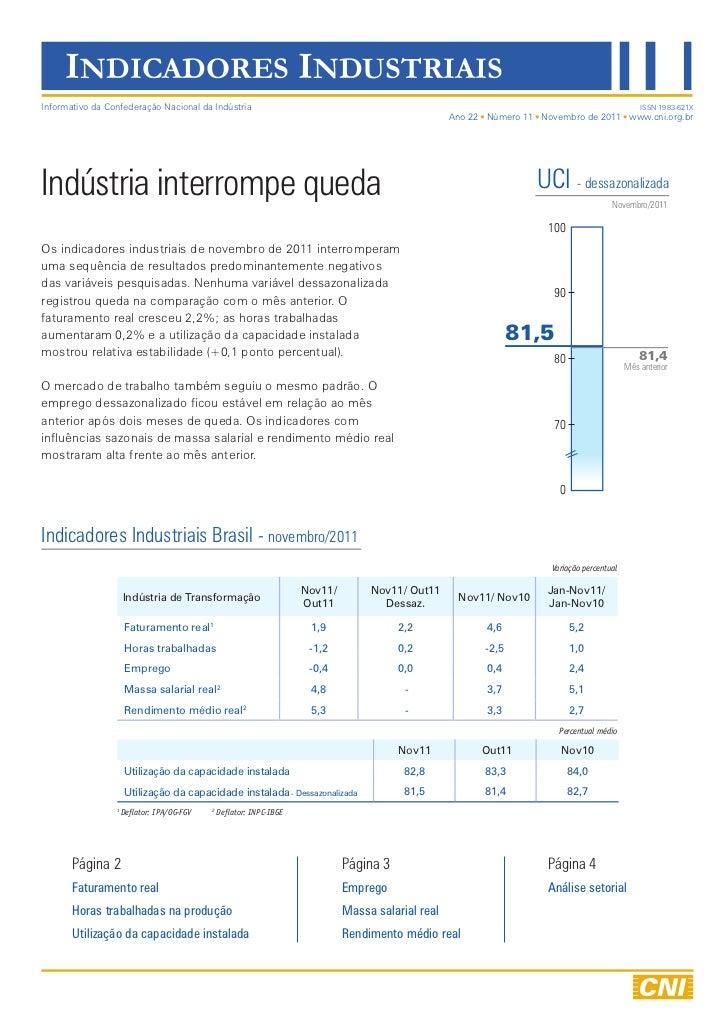 17.1   indicadores industriais - novembro 2011