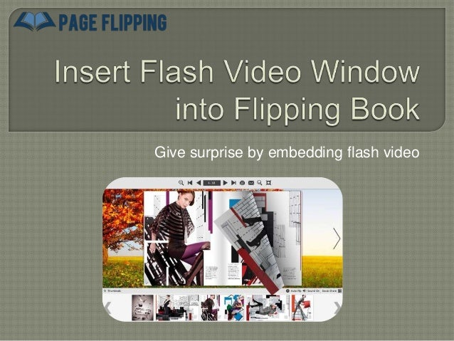 Insert Flash Video Window into Flipping Book