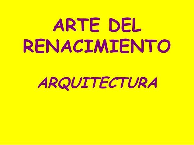 17.  Arquitectura del Renacimiento (2º de bachillerato).