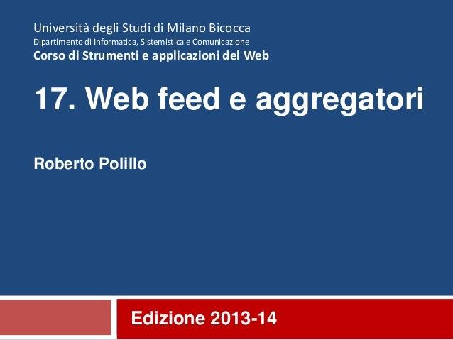 17. Web feed e aggregatori