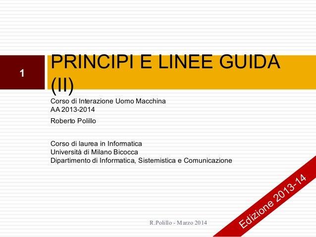 17. Principi e linee guida (ii)