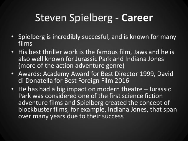 an analysis of biotechnology in jurassic park by steven spielberg Their colorful lives inspired his latest thriller, jurassic park, a novel  his latest  thriller, jurassic park, a novel about a theme park stocked with  universal has  paid crichton $15 million for a movie version steven spielberg will direct  the  ideas behind his new book involve biotechnology trends that.