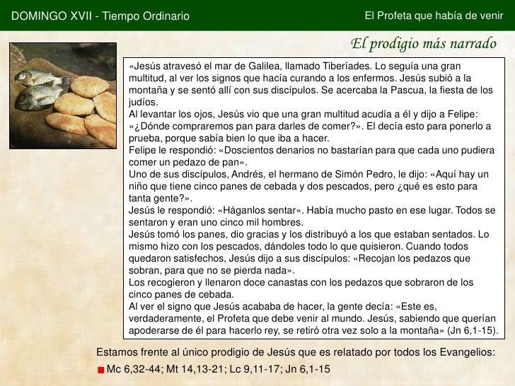 DOMINGO XVII - Tiempo Ordinario                                           El Profeta que había de venir                   ...