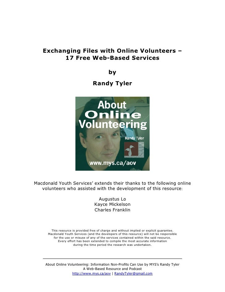 Exchanging Files with Online Volunteers –          17 Free Web-Based Services                                             ...