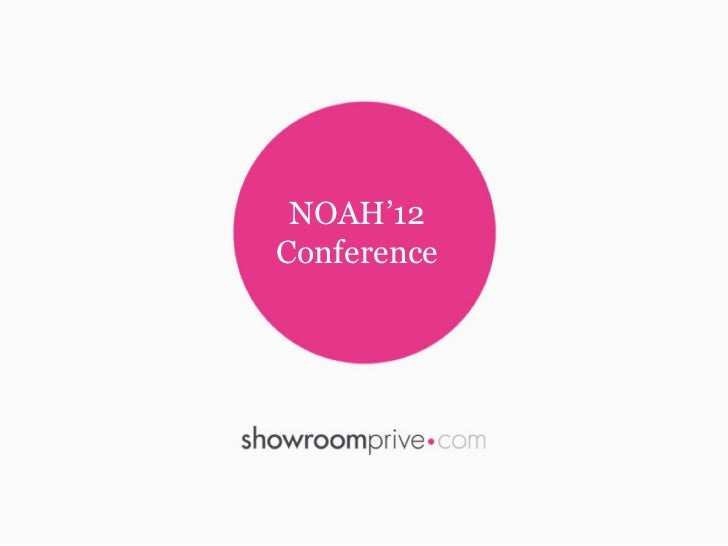 NOAH'12Conference