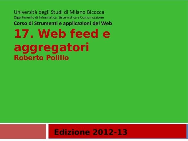 17.Web feed e aggregatori