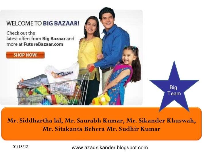 01/18/12 Big  Team www.azadsikander.blogspot.com Mr. Siddhartha lal, Mr. Saurabh Kumar, Mr. Sikander Khuswah, Mr. Sitakant...