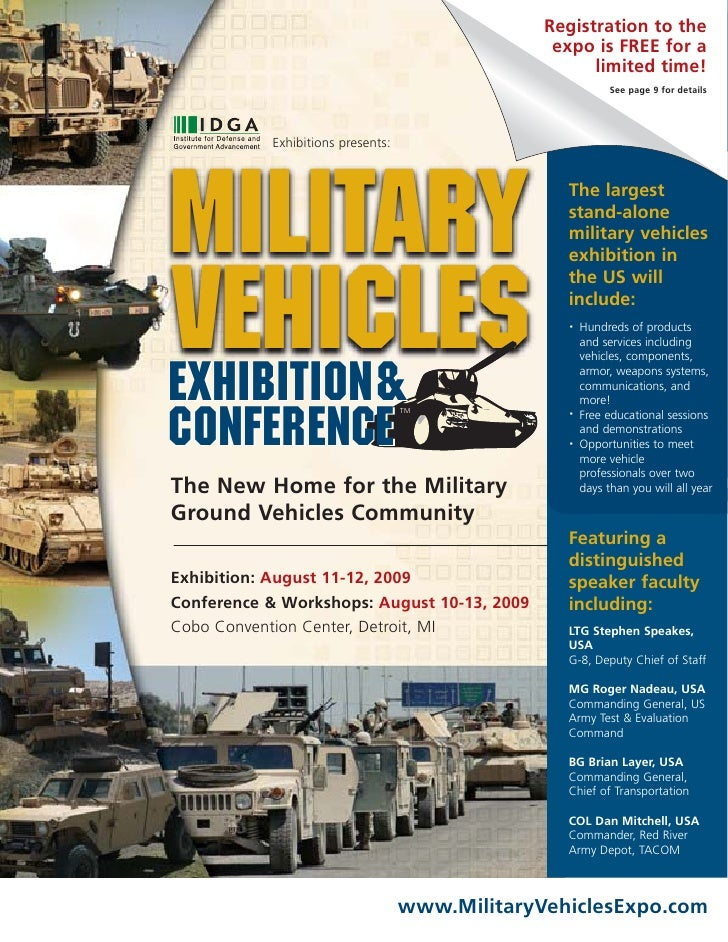 Complete info for Military Vehicles Exhibition & Conference