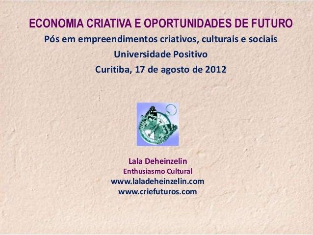 Curso de pós-graduação em empreendimentos criativos, culturais e socias