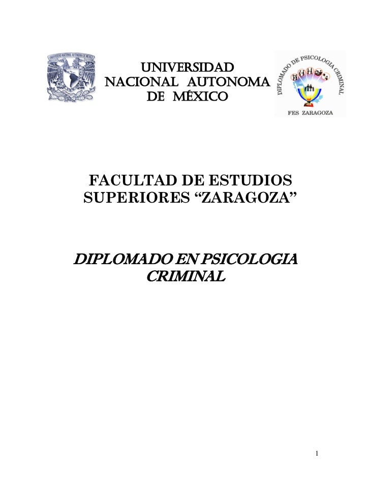"""UNIVERSIDAD   NACIONAL AUTONOMA        DE MÉXICO FACULTAD DE ESTUDIOS SUPERIORES """"ZARAGOZA""""DIPLOMADO EN PSICOLOGIA       C..."""