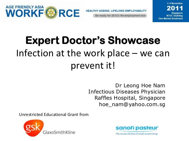 1710 dr leong hoe nam   infection at the workplace - we can prevent it!