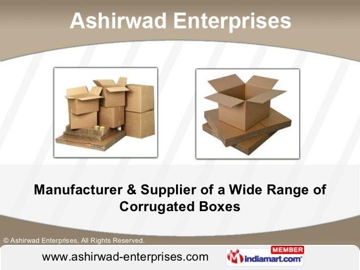 Ashirwad Enterprises  Maharashtra  india