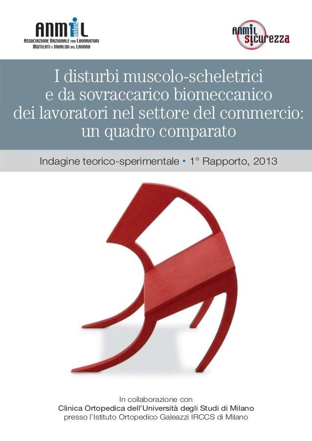 I disturbi muscolo-scheletricie da sovraccarico biomeccanicodei lavoratori nel settore del commercio:un quadro comparatoIn...