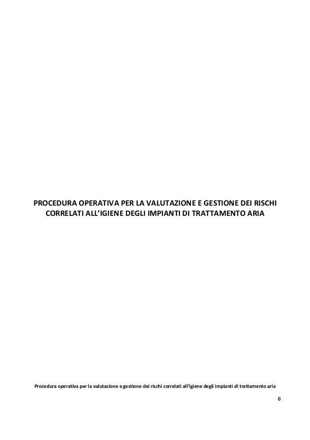 172   valutazione e gestione dei rischi correlati all'igiene degli impianti di trattamento aria