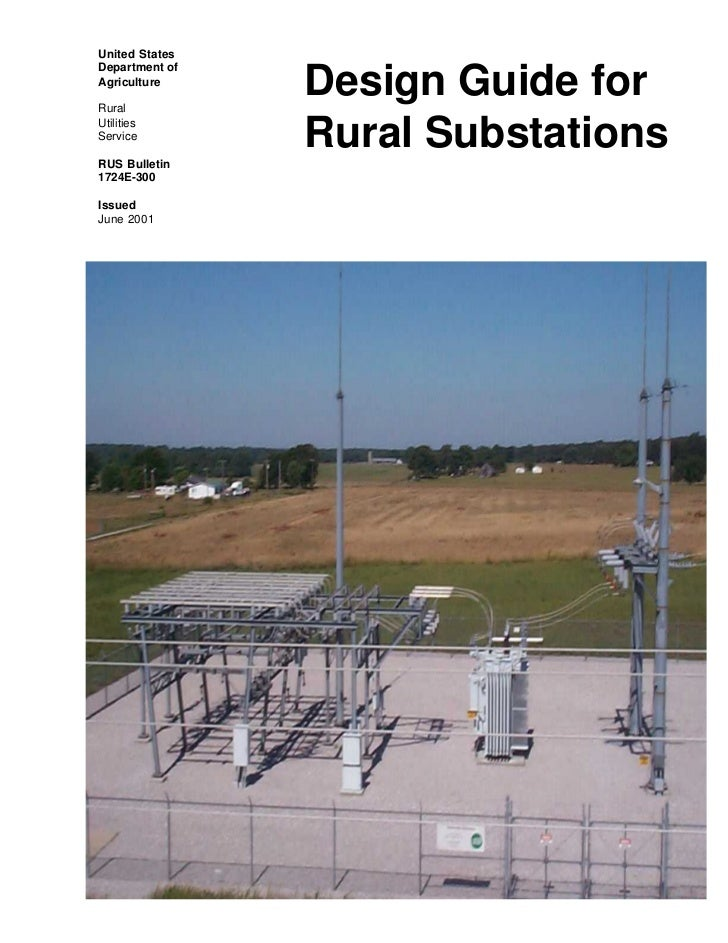 Design guide for rural substations for Substation design guide