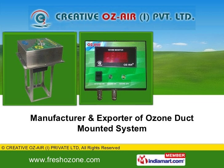 Manufacturer & Exporter of Ozone Duct Mounted System