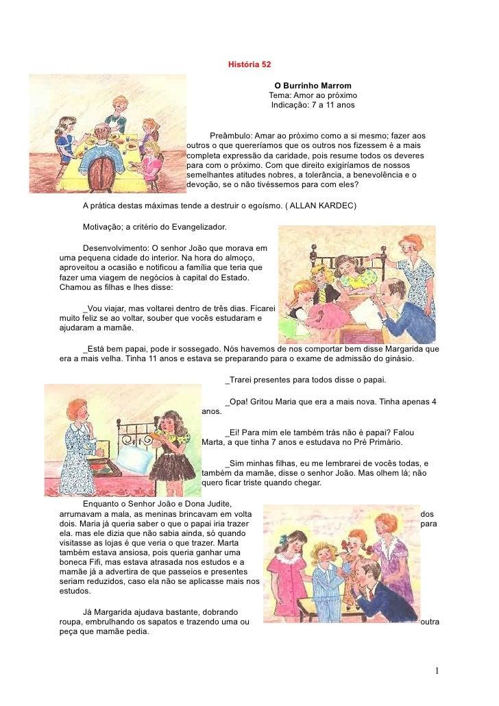 História 52                                                               O Burrinho Marrom                               ...