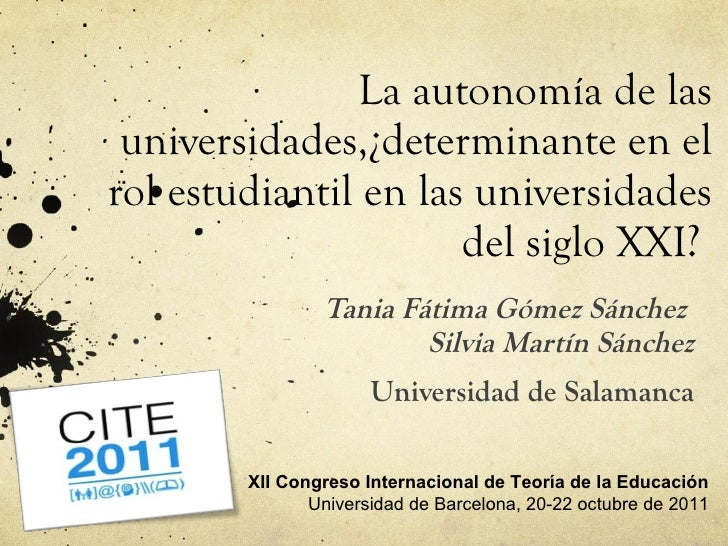 (173) La autonomía institucional de las universidades, ¿determinante en el rol estudiantil en las universidades del siglo XXI?