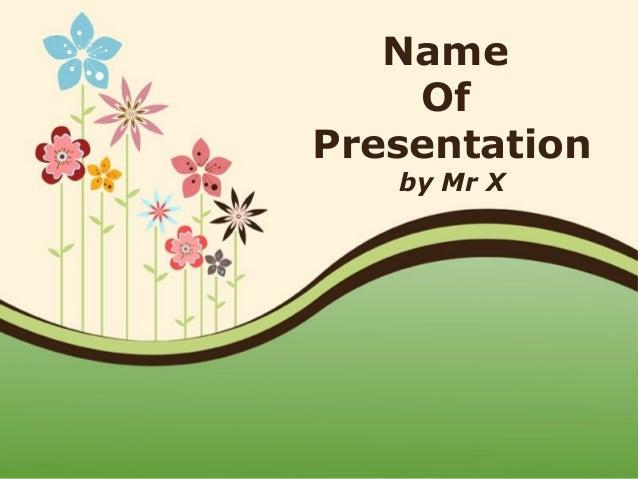 Colorful Floral Landcape Powerpoint Presentation Template
