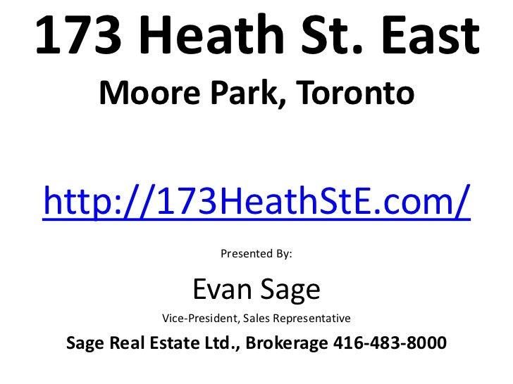 173 Heath Street East   Moore Park   Toronto