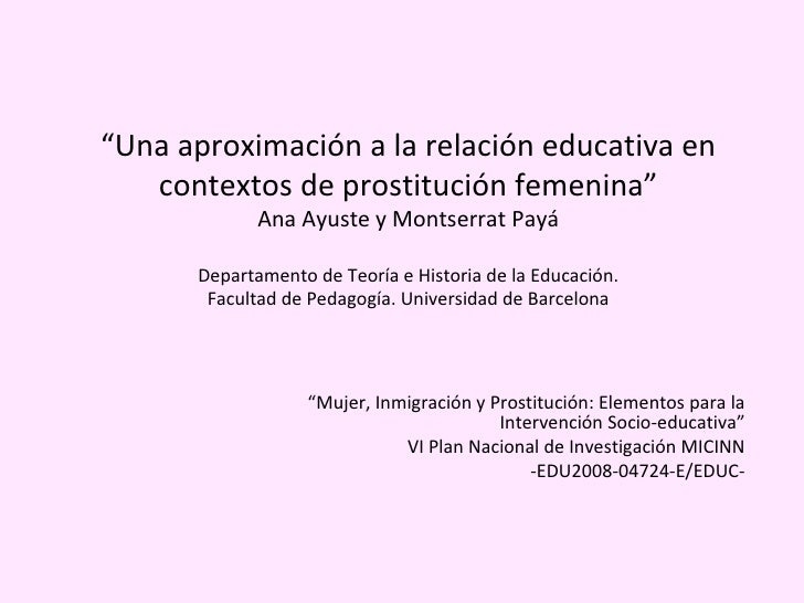 experiencias de prostitutas prostitución femenina