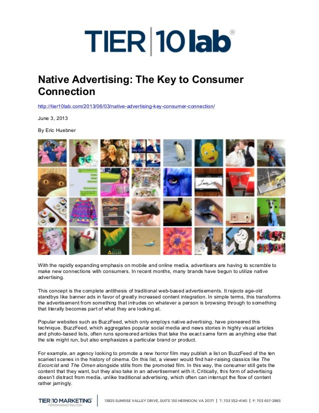 Native Advertising: The Key to Consumer Connection