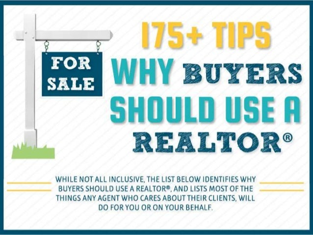 175 tips why buyers should use a realtor 174 a reasons to hire a real estate professional infographic