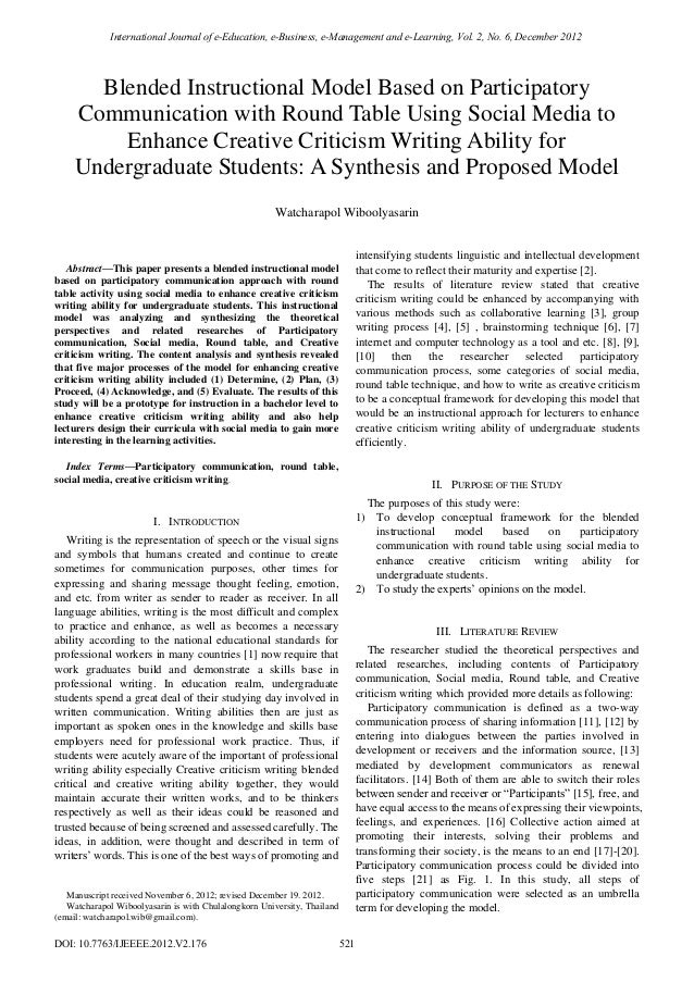 International Journal of e-Education, e-Business, e-Management and e-Learning, Vol. 2, No. 6, December 2012       Blended ...
