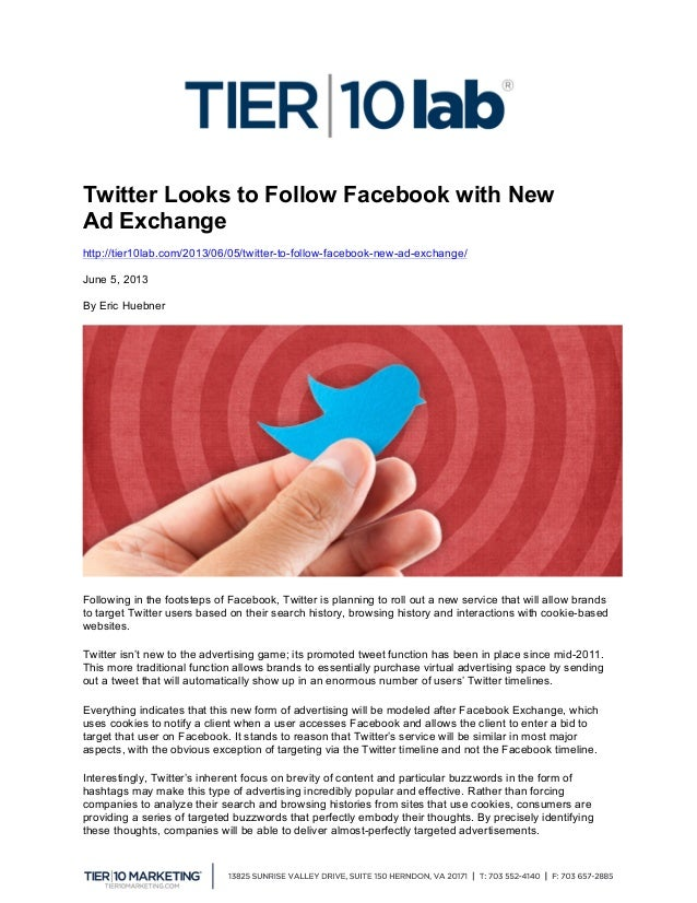 Twitter Looks to Follow Facebook with New Ad Exchange