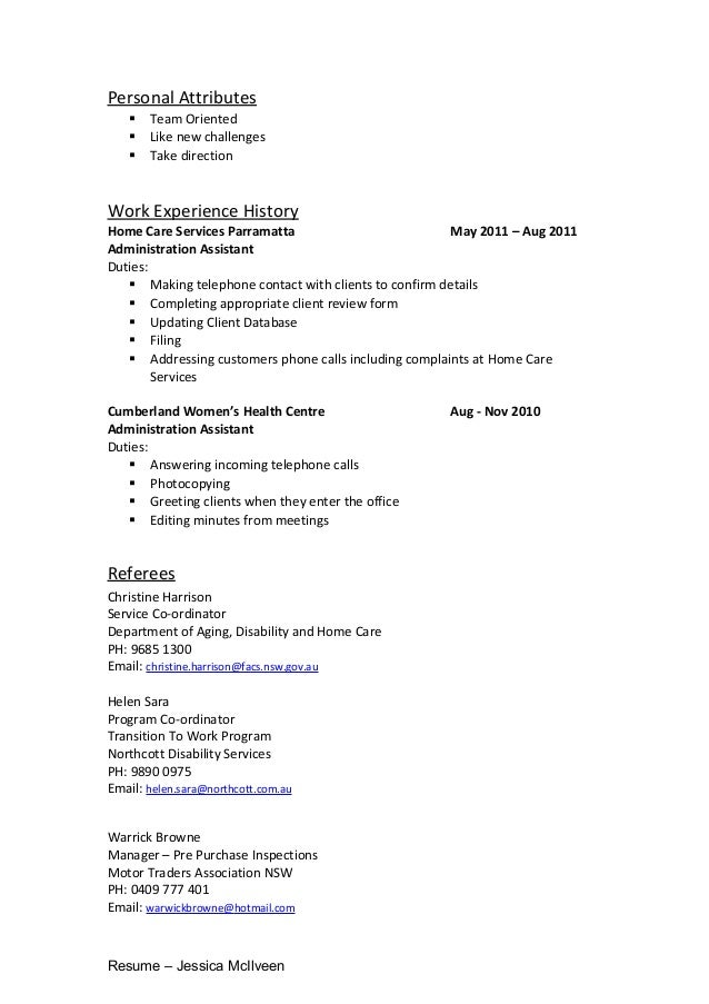 cover letter personal attributes retail assistant cover letter