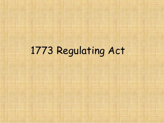 1773 Regulating Act