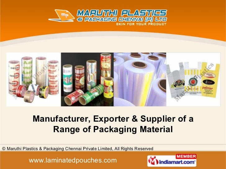 Maruthi Plastics and Packaging Chennai Private Limited Tamil Nadu  india
