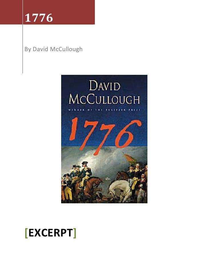 1776 excerpt david mccullough